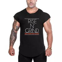 Brand Fitness Clothing No Pain No Gain Gyms T Shirt Men Slim fit Tshirt Extended Scallop Hem 2021 Summer Japanese Sleeve T-Shirt