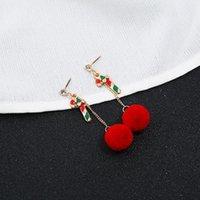 Boucles d'oreilles de bonhomme de neige perle de perles de perles de perles de perles de perles pour femmes fille Père Noël Cadeau d'arbre de Noël Cadeau de Noël