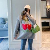 Suéter de maternidad tamaño de fábrica grande primavera y edad suelta reducción de la edad de maternidad otoño nueva moda manga larga knit9638