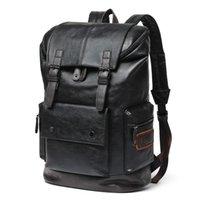 Outdoor Bags Men's Large Leather Antitheft Travel Backpack Boy Big Capacity School Male Business Shoulder Bag Laptop Men Black Bagpack