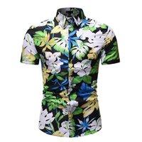Casual Elbise Gömlek Adam Çiçek Kısa Kollu Bluz Erkek Giyim Çiçek Hawaii Erkekler Yaz Gömlek