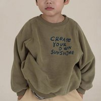 T-shirts Children's Korean Winter Clothing T Loose Casual Print Letter Long-sleeved Baby Sweater Jacket