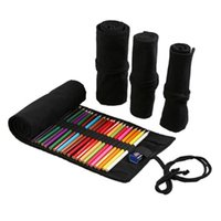 Pencil Bags 12 24 36 48 72 Holes Big Capacity Durable Eco-friendly Unisex Case Pen Bag Roll Holder Stationary Container