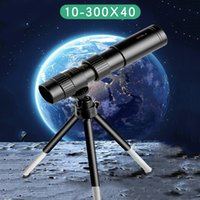 4k 10-300x40mm Super Telephoto Zoom Monocular Telescope With Tripod on Powerful Binoculars & Clip Mobile Phone Accessories