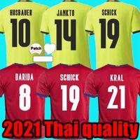 2021 جمهورية التشيك المنزلية بعيدا كرة القدم الفانيلة داريدا Jankto Schick Kral Kaderabek Husbauer Soucek Man Football Shirts