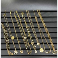 Luxury Designer Fashion Necklace d Family   Dijia Cd Letter Star Double Layer