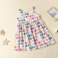 2021 Baby Mädchen Prinzessin Kleid Sommer Buchstaben Gedruckt Mädchen Hosenträger Kleider Kinder Cartoon Bär Tutu Röcke Kinder Marke MOS Rock 2-7 Jahre