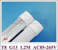 T8 LED Röhrchen Lampe Licht LED Leuchtstoffröhrchen T8 G13 1200mm 20W SMD 2835 96 LED AC85V-265V Eingang Aluminium PC High Helle Energieeinsparung CE