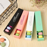 Macaron Box Cake Boxes Home Made Macaron Chocolate Boxes Biscuit Muffin Box Retail Paper Packaging 20.5*5.4*5.4cm Black Green LLD11176