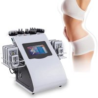 6 In 1 40k Slimming Equipment Ultrasonic Cavitation Liposuction 8 Pads Lipolaser Vacuum RF Skin Care S Shape Body Sculpting Machine