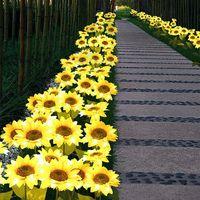 Solar Lamps 1 2pcs Sunflower Lights Garden Outdoor LED Flower Lamp Landscape Lawn Light A1