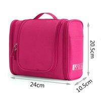 Cosmetic Bags & Cases Waterproof Nylon Travel Organizer Bag Unisex Women Hanging Makeup Washing Toiletry Kits Storage
