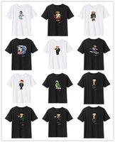 Verão manga curta urso t-shirt impressão de alta qualidade surf polo camisa padrão 100% algodão solto roupas casuais hip hop hop 1315