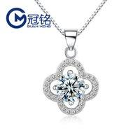 Guanming Silver S925 Sterling Prata Micro Diamante Pingente Coreano Colar De Colares Moda Acessórios Da Moda Clavícula Da Menina