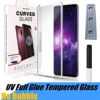 UV Temperli Cam Koruyucu Samsung S21 Not 20 S20FE S20 Ultra S10 Artı S9 3D Tam Sıvı Tutkal Ekran Koruyucuları