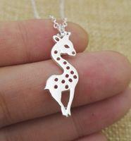 Весь уникальный милый жираф ожерелье для женщин и девочек подарок на день рождения женщины, девочка Sanlan