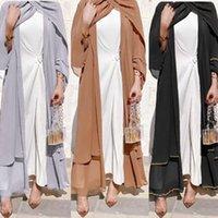 Eid Abaya Dubai Kimono Open Abayas Turkish Kaftan Muslim Women Hijab Dress Ramadan Islamic Clothing Jalabiya Caftan Arab Robe Ethnic