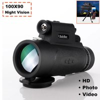Telescope & Binoculars Long Range 8000m Monocular 100X90 Low-light Night Vision HD For Smartphone Outdoor Hunting Optics Scope