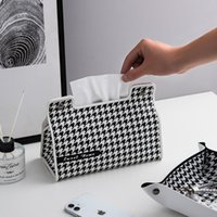 Tissue Boxes & Napkins Modern Style Leather Box Decorative Desk Organizer Pencil Case Office And Home Storage
