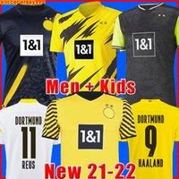 dortmund Borussia HAALAND REUS 20 21 축구 유니폼 2020 2021 축구 셔츠 BELLINGHAM SANCHO HUMMELS BRANDT 남성 + 키즈 키트 유니폼