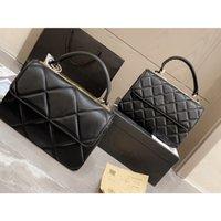 2021 Frauen Luxus Designer Tasche CrossBady Hohe Qualität Geldbörse Großhandelspreis Echte Ledertaschen Schulterklappe Handtasche mit kleiner und großer Gitter Diamant Größe 25cm