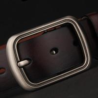 Cintos Homens Full Belts Pure Cintos de Couro De Couro Moda Jeans Boutique