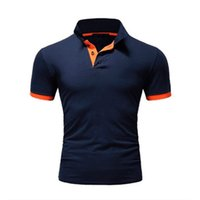 Designs Summer short Sleeve Polo Shirt men fashion polo shirts casual Slim Solid color business mens polo shirts mens clothing Wears s