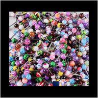 Labret الشفاه مختلطة اكريليك مسمار للنساء الحلوى لون اللسان ثقب الدائري ترصيع مجوهرات الحديد nibble by bnokv j1x53