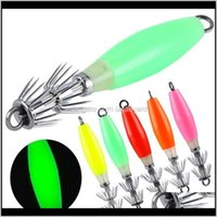 Sports & Outdoors Drop Delivery 2021 High Quality Squid Hook With Double Umbrella Hook, Sea Bait Lure Hard Fishing Octopus Luminous U6D5 Hook