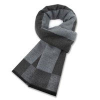 Scarves Men Cashmere Scarf Black Gray Stripe Small Square Knitting High Quality Fashion Luxury Winter Casual Cubrebocas