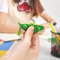 Dekompression Edamame Toys Squishy Squeeze Erbsen Bohnen Keychain Anti Stress Erwachsene Unzip Toys Party Geschenk Fidget Spielzeug