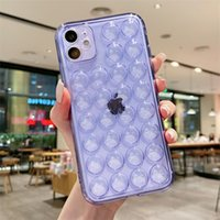 Buttons Transparent Clear Soft Phone Cases Full-Body Protection For iPhone 12 Pro Max 11 XS XR 6 7 8 Plus 13 Decompression case
