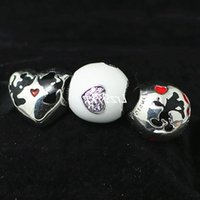 100% 925 Sterling Silver Charms and Murano Glass Bead Set Fits European Pandora Jewelry Charm Bracelets-DS011