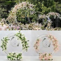 Decorative Flowers & Wreaths Wedding Artificial Flower Row Ring Arch Decoration Home Party Po Shoot Background Road Lead