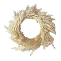 Decorative Flowers & Wreaths Wedding Pampas Grass Large Size Fluffy For Home Christmas Decor Natural Plants White Dried Flower Wreath