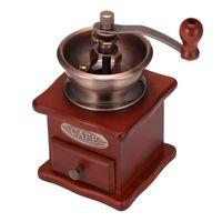 Moedor de café elétrico moedor de feijão de madeira mão manual de aço inoxidável de aço inoxidável Mini Burr Burr com Cerâmico Millston