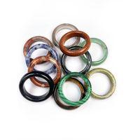 1 pc natural age anel de pedra redondo forma verde aventurines pedras de areia de ouro anéis para mulher presente de festa de jóias
