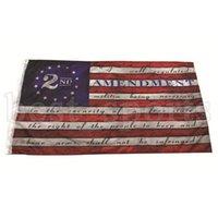 2 ° Emendamento Vintage Bandiera Americana Bandiera all'aperto Bandiera 90cm * 150 cm Polyester USA Bandiere di pallacanestro CYZ3213