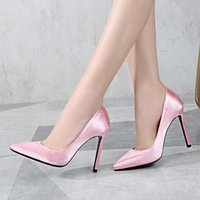Dress Shoes Summer Women Pink British Style Fashion Sexy Stiletto Heels Ladies Shallow Mouth Pointed Party Pumps Wedding Big Size