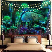 نسيج مخدر، نسيج الجدار شنقا، Trippy Tapestry لغرفة النوم، غرفة المعيشة، النوم، الديكورات المنزلية 1984 V2
