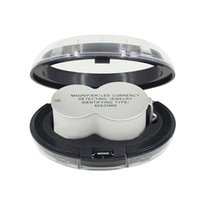 Foldable 현미경 미니 40x 25mm 보석 단일 돋보기 40x25mm LED 빛 돋보기 돋보기 스탬프 골동품 9888