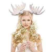 Décorations de Noël Fromot Poitrine en épingle à cheveux Bandeau 3D Personnalité élégante Adulte Enfants Cadeau Cadeau Blanc Cheveux Blanc