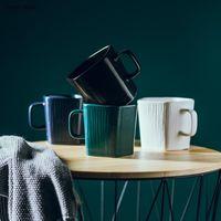 Cups & Saucers 400ml Chinese Style Creative Color Glaze Irregular Shape Ceramic Teacup Coffee Mug Home Porcelain Breakfast Cup