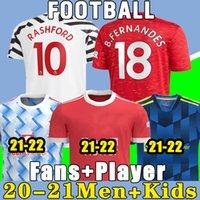 Maglie da calcio 2020 2021 Manchester United CAVANI VAN DE BEEK B. Maglia da calcio FERNANDES RASHFORD 20 21 kit uomo + bambini HUMANRACE quarto