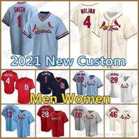 Cardeal Jersey Custom 28 Nolan Arenado Baseball 4 Yadier Molina 46 Paul Goldschmidt 1 Ozzie Smith 13 Matt Carpenter St LouisMunoz