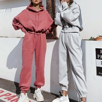 Women's Tracksuits 2021 Women Two Piece Set Outfits Autumn Womens Tracksuit Oversized Hoodie And Pants Casual Sport Suit Winter 2 Woman