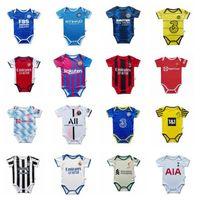 맨체스터 2021 2022 레알 마드리드 벤즈마 아기 축구 유니폼 6 ~ 18 개월 Rashford Cavani Odegaard Gunners Mbappe 축구 셔츠 공 유아용 키트 Maillots Futbol