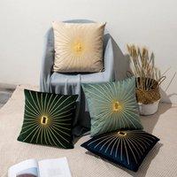 45x45cm linee dorate divano pillowcase cuscino rosa copertura cuscino cuscino cuscino domestico sedia decorazione 17.72x 17.72 pollici