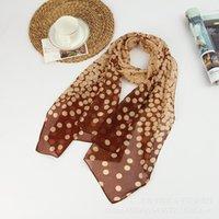 Estilo de verano largo mujer seda bufandas 50 * 160 cm diseñador lunares imprimir hembra pura