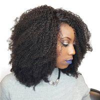 머리카락 확장에서 아프리카 킨키 클립 100g 120g 150g 세트 당 1 세트 remy 인간의 머리카락 자연 색